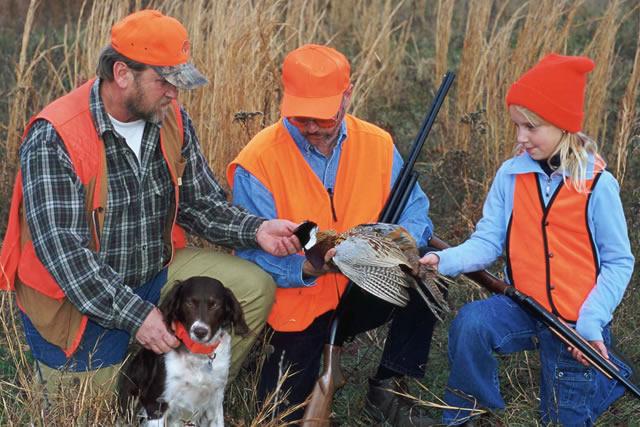 Children Hunting Pheasants